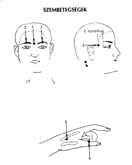 szem akupunktúrás pontjai)